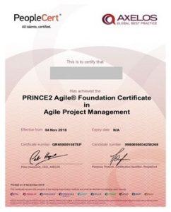 گواهینامه Prince 2 Agile Foundation- مدارک مدیریت پروژه