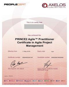 گواهینامه Prince 2 Agile Practitioner- مدارک مدیریت پروژه