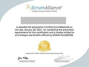 گواهینامه CSM- مدارک مدیریت پروژه