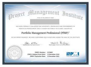 گواهینامه PfMP- مدارک مدیریت پروژه