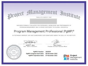 گواهینامه PgMP- مدارک مدیریت پروژه