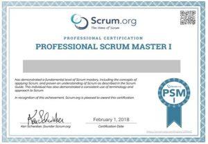 گواهینامه PSM- مدارک مدیریت پروژه